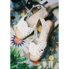 Woven-strap Slingback Flat Sandals
