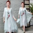 Ethnic Print Dress Set