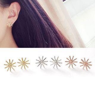 Sun Rhinestone Earrings