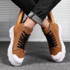 Lettering Lace-up Ankle Boots