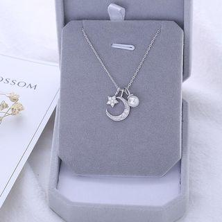 Moon Necklace Necklace - Star & Moon - One Size
