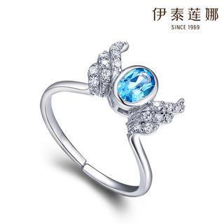 925 Silver Swarovski Elements Crystal Wings Ring