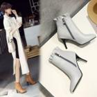 High Heel Pointed Short Boots