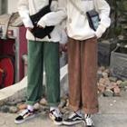 Plain Straight Cut Corduroy Pants