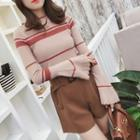 Bell Sleeve Striped Knit Top