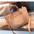 Plain Furry Trim Handbag
