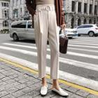 Tapered Pants With Belt