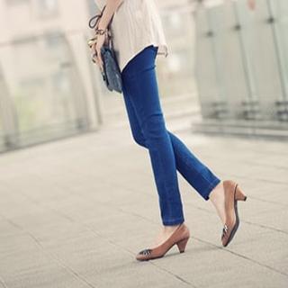 Elastic-waist Skinny Pants