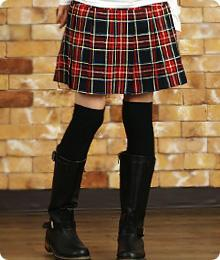 Classical Check Skirt