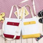 Canvas Contrast Color Tote