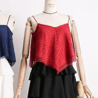Asymmetric Lace Camisole Top