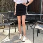 Inset Shorts Mini Pencil Skirt