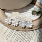 Flower Faux Pearl Stud Earring