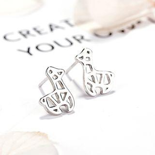 925 Sterling Silver Animal Stud Earrings 925 Silver - One Size