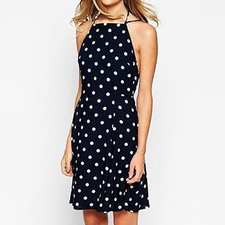 Dotted Halter Dress