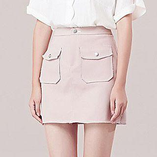 Pocketed A-line Mini Skirt
