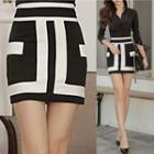 Two Tone Pencil Skirt