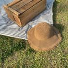 Woven Fringed Sun Hat