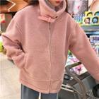 Hooded Panel Fleece Jacket