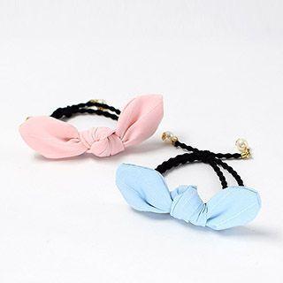 Bow Faux Pearl Hair Tie