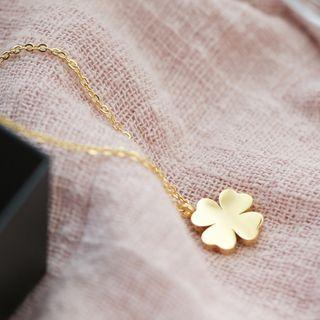 Clover Necklace Gold - One Size