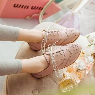 Lace-up Brogue Oxfords