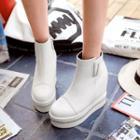 Rhinestone Platform Short Boots