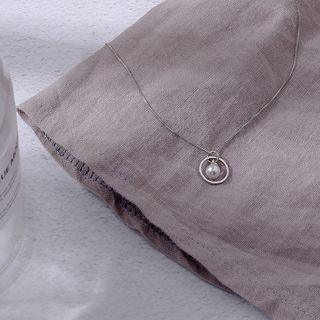 Faux Pearl Pendant Necklace Faux Pearl Pendant Necklace - One Size