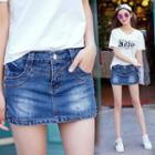 Denim Washed Skort