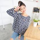 Dotted Pocket Long-sleeve Top