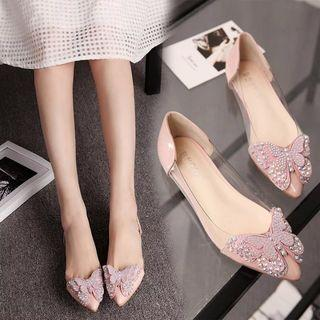 Butterfly Pointy-toe Flats