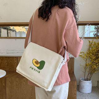 Avocado Print Messenger Bag Off-white - One Size
