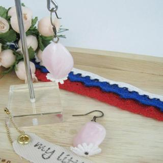 Elegant Lace Bead Earrings(pink)