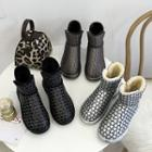 Patterned Short Snow Boots