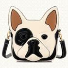 Faux-leather Dog-pattern Cross Bag