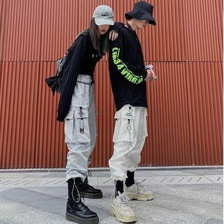 Couple Matching Embroidered Jogger Pants / Pant Chain