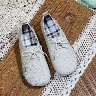 Braided Faux Leather Flats