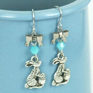 Easter Bunny Earrings One Size