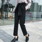 Cropped Tie-waist Dress Pants