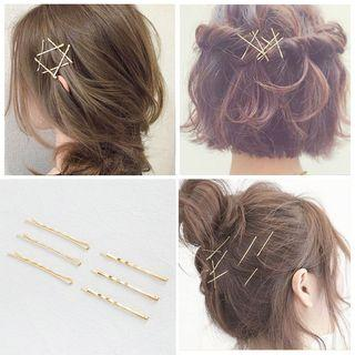 Alloy Hair Pin 2803# - Set Of 10 - One Size