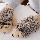 Hedgehog Knit Mittens