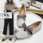 Striped Bow Flats