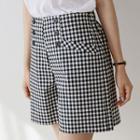 Band-waist Gingham Shorts