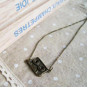 Copper Cassette Short Necklace