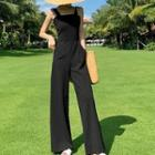 Sleeveless Open-back Jumpsuit