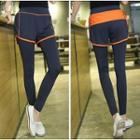 Mock Two-piece Sport Pants