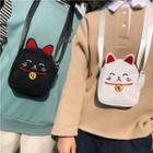 Fortune Cat Canvas Crossbody Bag