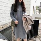 Turtleneck Long Sleeve Knit Dress