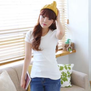Short-sleeve V-neck Top