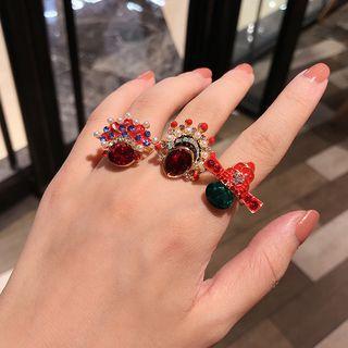 Peking Opera Rhinestone Ring